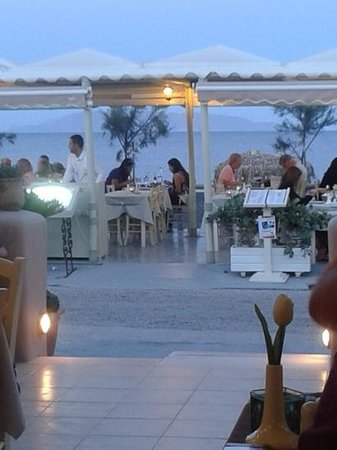 Almira Restaurant: both inside and outside eating areas are excellent.  with a close up view of the sea. i can hear