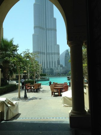 Palace Downtown : View of Burj Khalifa from the Restaurant