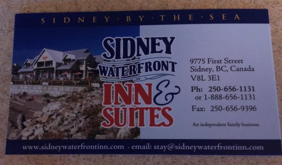 Sidney Waterfront Inn & Suites: sidneywaterfrontinn.com