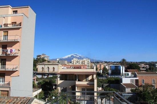 Villa Del Bosco Hotel: Etna set fra tagterassen