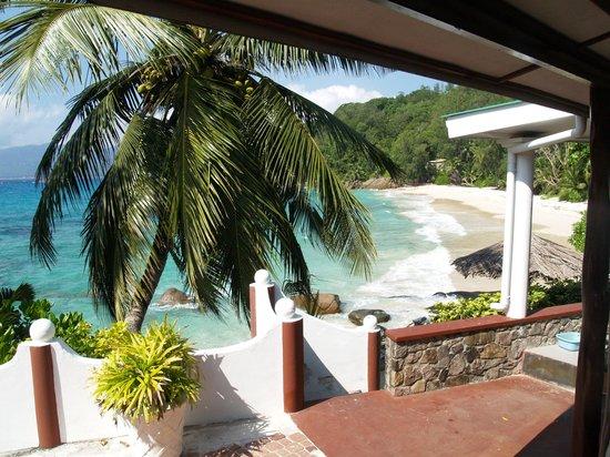 Anse Soleil Beachcomber: udsigt fra terassen