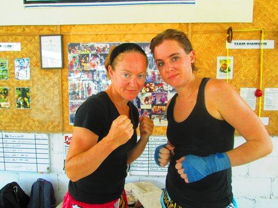 Diamond Muay Thai: girl in fight training