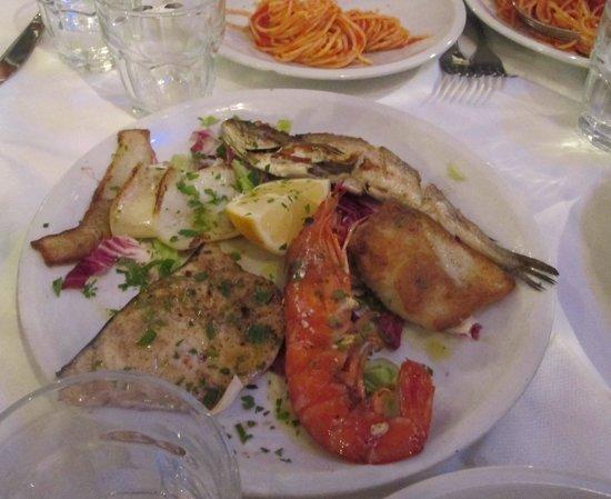 Osteria da Antonio: Nuxed seafood grill (?)