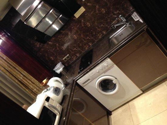 Hotel Artnouveau Seocho: Kitchen and Washer