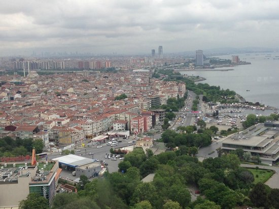 Sheraton Istanbul Atakoy Hotel: View from the Club room, Top floor of the hotel