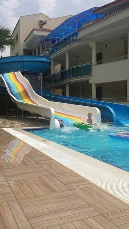 Montebello Resort: My boy loving the slides. Lovely holiday