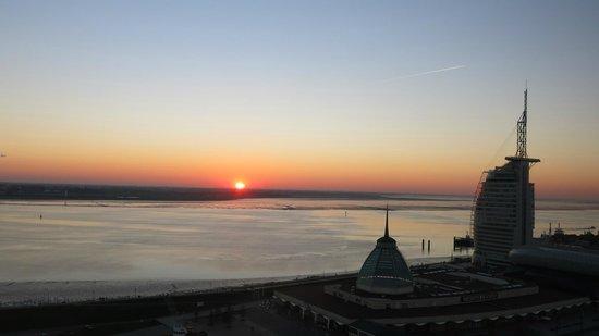 Viewing Platform SAIL City: so einen schönen Sonnenuntergang kann man auch von oben bewundern ☼