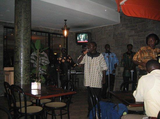 Sarova Stanley: Kayamba Africa playing on the terrace