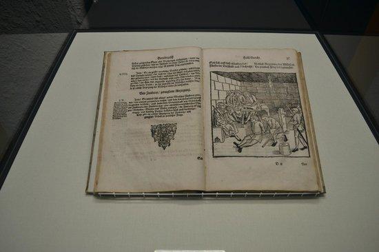 Mittelalterliches Kriminalmuseum: Old book.