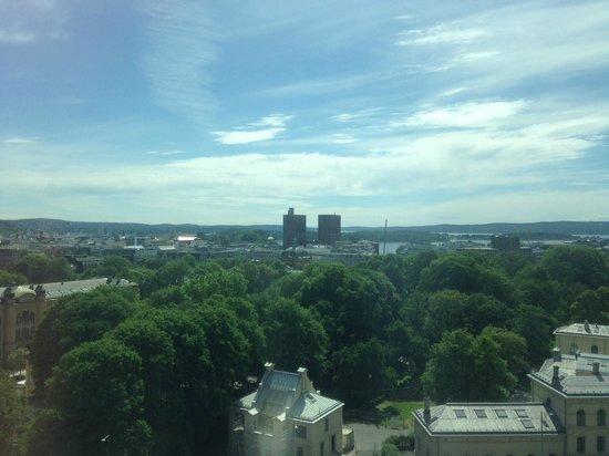 Radisson Blu Scandinavia Hotel : View towards city center from 13th floor