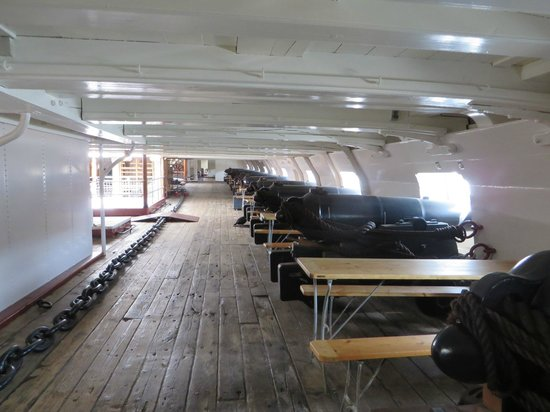 Fregatten Jylland: Below decks