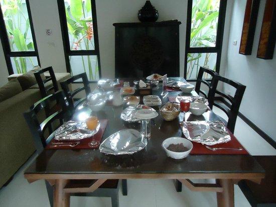 The Bell Pool Villa Resort Phuket: breakfast served in villa
