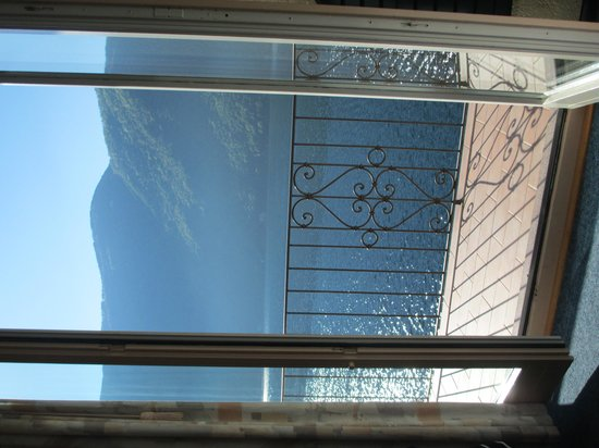 Hotel Moosmann: vue depuiss la chambre