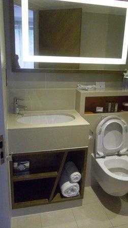 DoubleTree by Hilton - London Hyde Park : salle de bain un peu serrée.