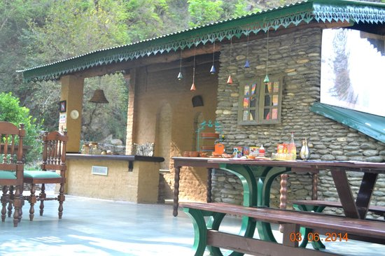Soulitude by the Riverside: The open air 'dhaaba' and dining area