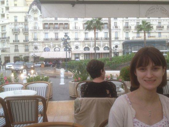 Cafe de Paris Monte-Carlo : Our al fresco seats and view