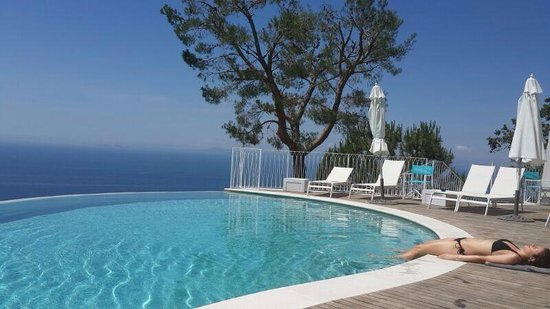 Relais Blu: Stunning view from the pool