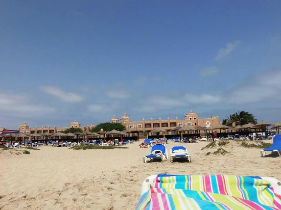 Hotel Riu Palace Cabo Verde : Hotel from the beach
