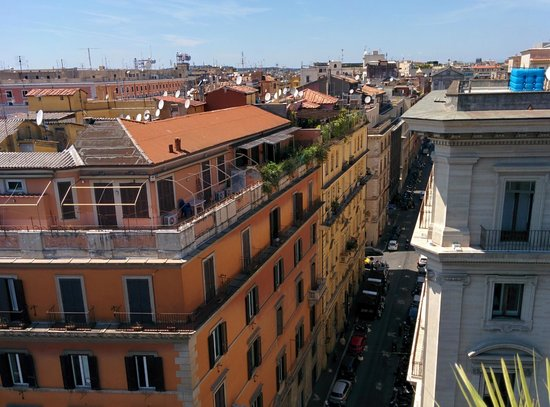 Boscolo Exedra Roma, Autograph Collection: view from roof restaurant