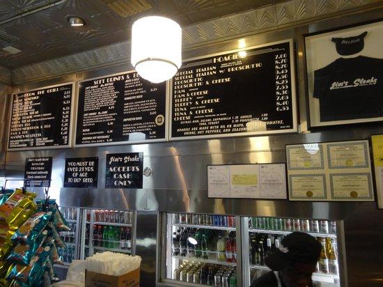 Jim's Steaks South St. : Inside Jim's