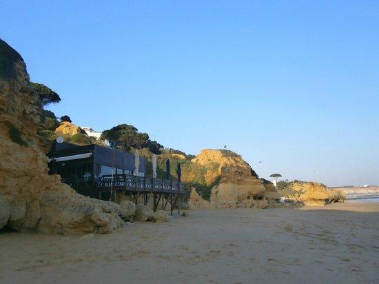 Passaro Azul: View from the beach of the restaurant