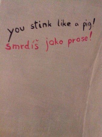 Ahoy! Hostel : Funny inscriptions in toilet