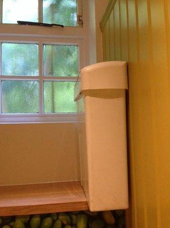 The George Harvester: Sanitary Bin on ledge