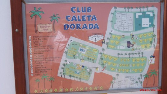 Club Caleta Dorada: Map of resort