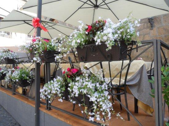 il terrazzo in fiore - Picture of Ristorante Al Pozzo Etrusco da ...