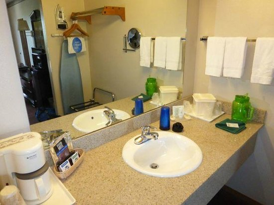 Quality Inn West: The vanity