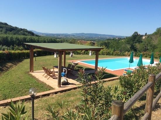 Podere Chiaromonte: piscina e giardino