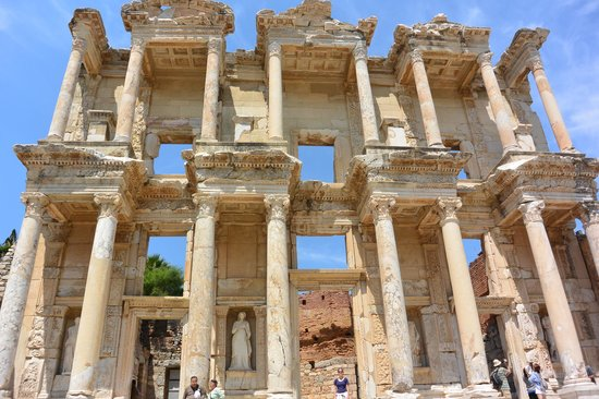 Kusadasi Private Ephesus Tours: Library at Ephesus