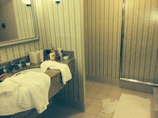 Hilton Garden Inn Bridgewater: bathroom King suite