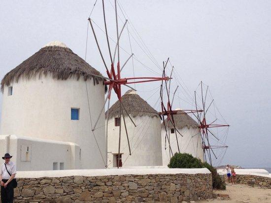 The Windmills (Kato Milli): Mykonos windmills