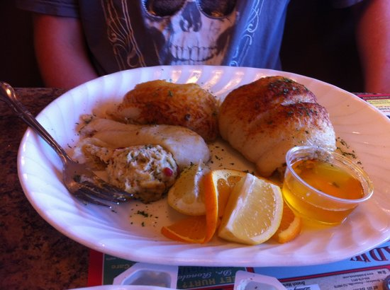 Broadway Diner: Stuffed flounder(already started first portion).