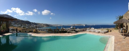 Hotel Paradision : Panorama of Paradision pool view