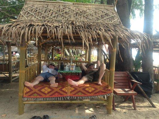 Lanta Palm Beach Resort: Efter en god måltid.