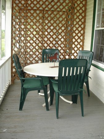 Three Stallion Inn: the other end of our private porch