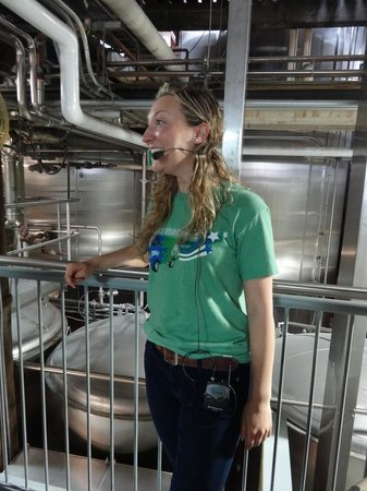 Steam Whistle Brewery: Our lovely tour guide