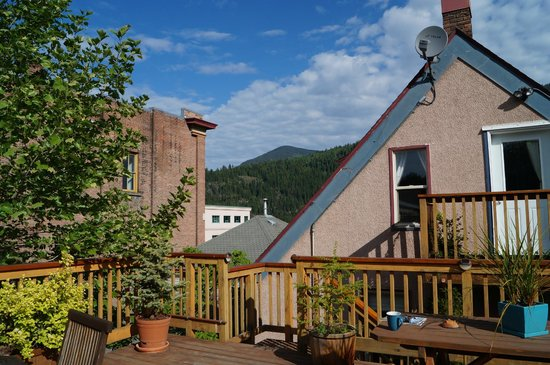 Cloudside Hotel: view from top deck
