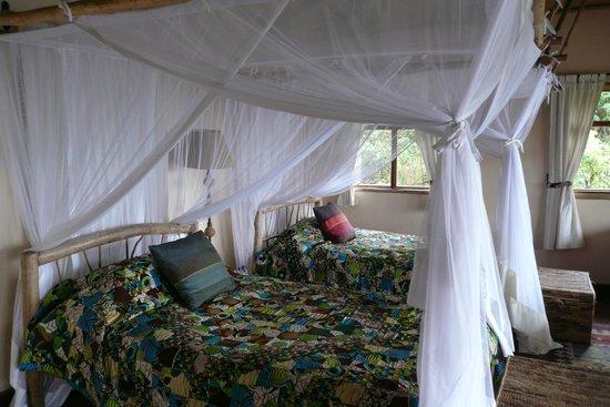 Virunga Lodge : camas solteiro