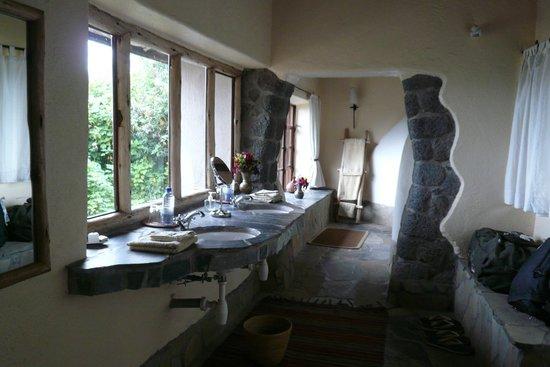 Virunga Lodge: pia com vista