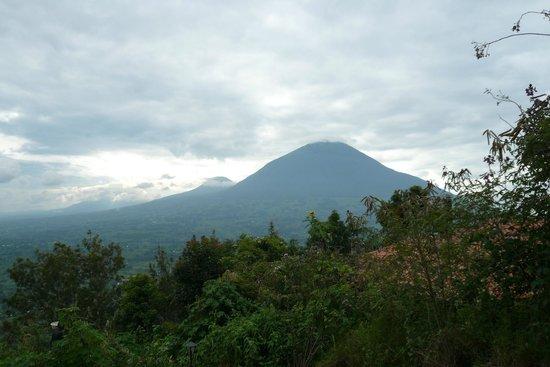 Virunga Lodge : vista para o vulcão