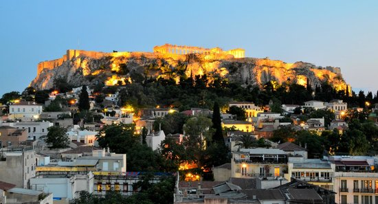 Plaka Hotel: View from rooftop terrace