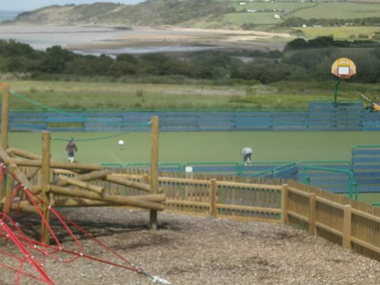 Thorness Bay Holiday Park - Park Resorts: footbal area bay view
