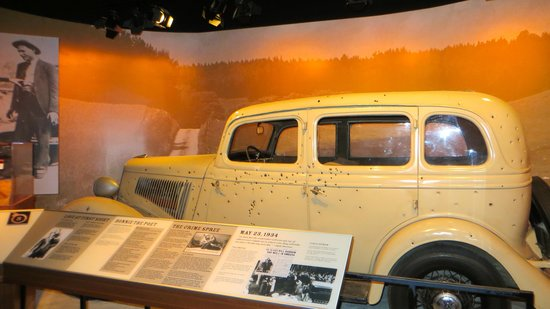"National Museum of Crime & Punishment : Car from the movie ""Bonnie & Clyde."""