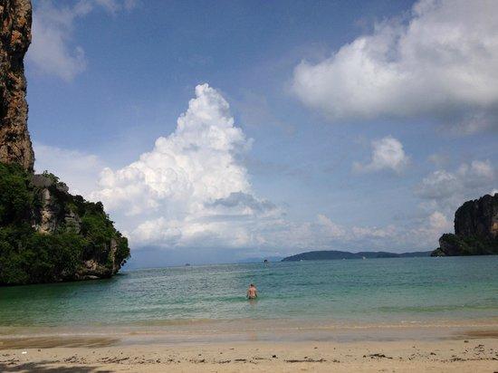 Rayavadee Resort: Railay Beach before the longtail boats