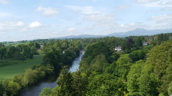 Doune Castle: View from the Battlements of the River Teith