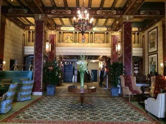 Serrano Hotel: elegant hotel lobby.