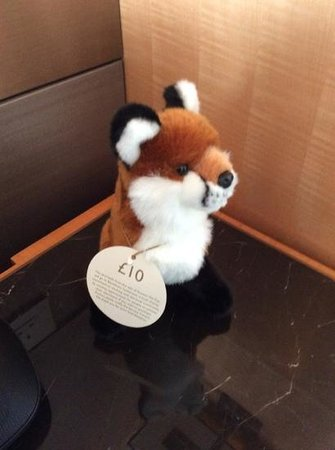 Shangri-La Hotel, At The Shard, London : cuddly toy for sale!